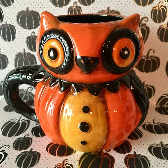 transpac Other - Halloween Owl Mug Jparker by Transpac Big Eyes